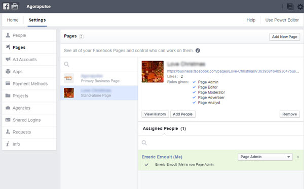 Provide Facebook admin access